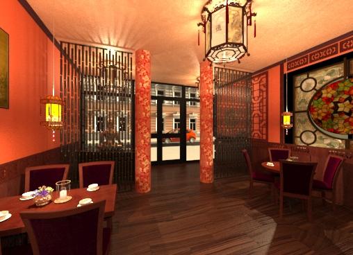 Дизайн китайского ресторана