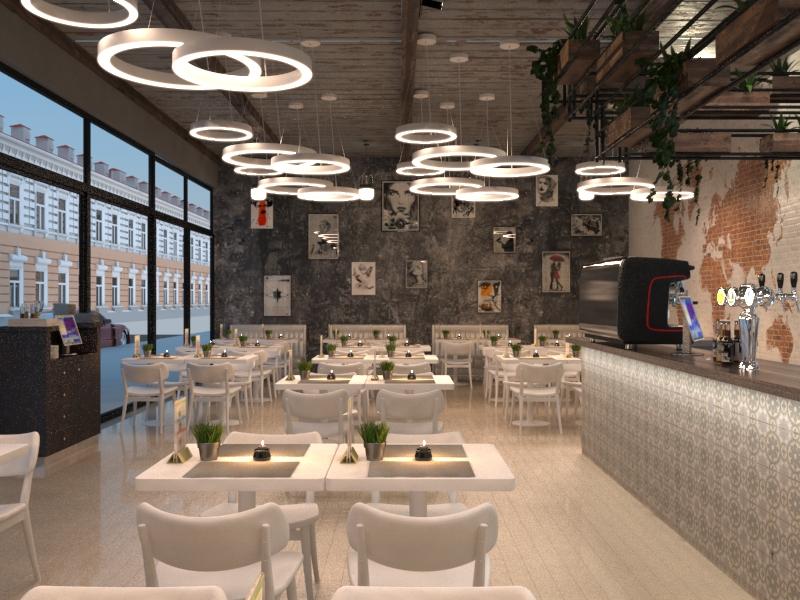 Дизайн-проект итальянского кафе в стиле лофт
