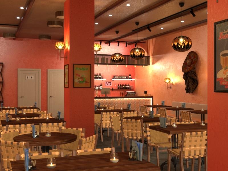 Дизайн кафе мексиканской кухни