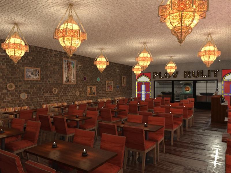 Дизайн-проект кафе узбекской кухни