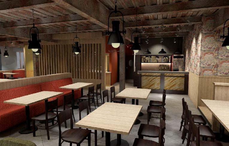Деревянный дизайн интерьера баров, кафе, ресторанов